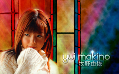 A colorful Yui Makino wallpaper